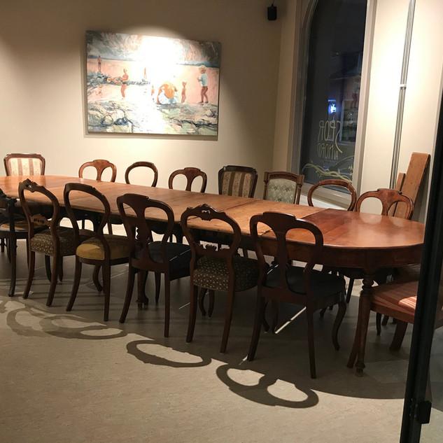 Stort biedermeier spisebord