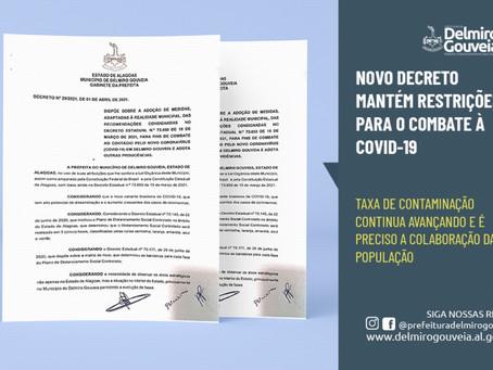Medidas de combate à COVID-19 para a proteção da população são mantidas em novo decreto municipal