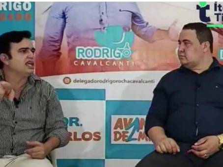 Delegado Rodrigo diz que não irá desistir e não aceitará ser vice de ninguém nas eleições