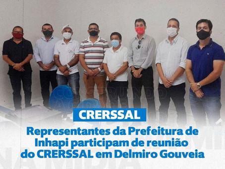 Representantes da Prefeitura de Inhapi participam de reunião do CRERSSAL em Delmiro Gouveia