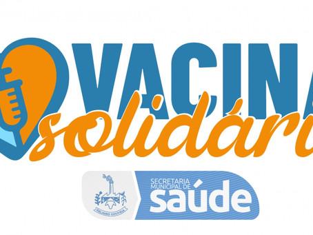 Secretaria Municipal de Saúde lança campanha solidária para arrecadação de alimentos