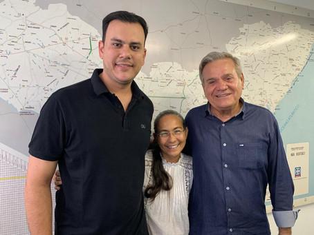 Ricardo Lima recebe apoio de Heloísa Helena em sua pré-candidatura à Prefeito em Água Branca