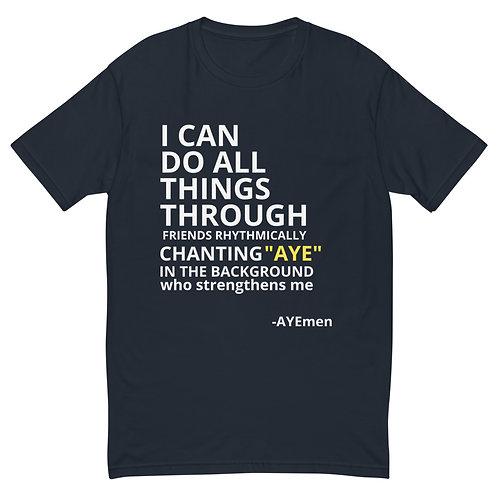 Mantra Slogan Short Sleeve T-shirt