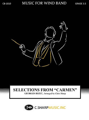 Selections from Carmen concert cover 9x1