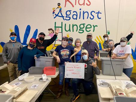 PNR Volunteers Pack 5,184 Meals for Kids Against Hunger
