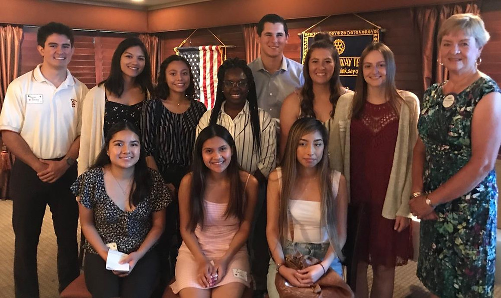 Recent recipients of college scholarships from the Rotary Club of Pleasanton