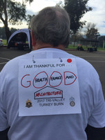 Tri-Valley Turkey Burn race bibs let you tell the world what you're grateful for