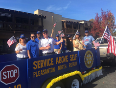 Our float in the annual Veterans Parade