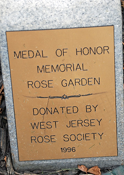 Medal of Honor plaque beverly garden gus