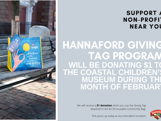 Support us at Hannafords through the month of February!
