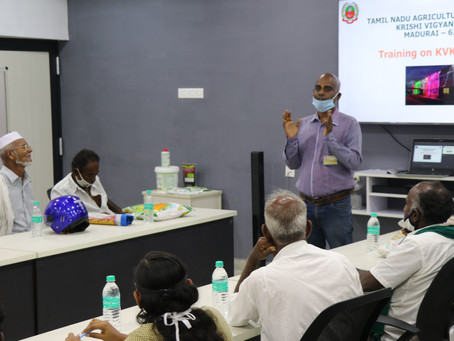MABIF along with KVK, Madurai organized Training program
