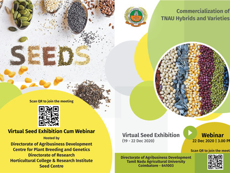Webinar on commercialization of TNAU varieties and hybrids