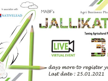 MABIF's Jallikattu 3.0...Register your Ideas Soon