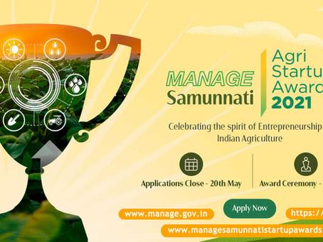 MANAGE-Samunnati Agri-Startup Awards 2021 !!!