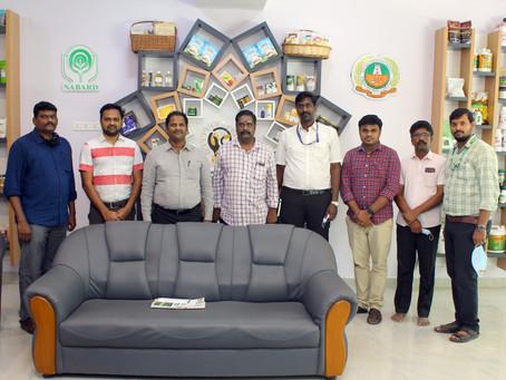 DDM, NABARD, Madurai along with MD, DCCB visited MABIF