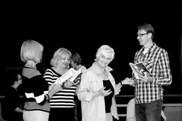 Ideal husband rehearsal, Pat, Ros, Sylvi