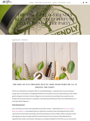 Solid Perfume Co. - Eco-friendly beauty