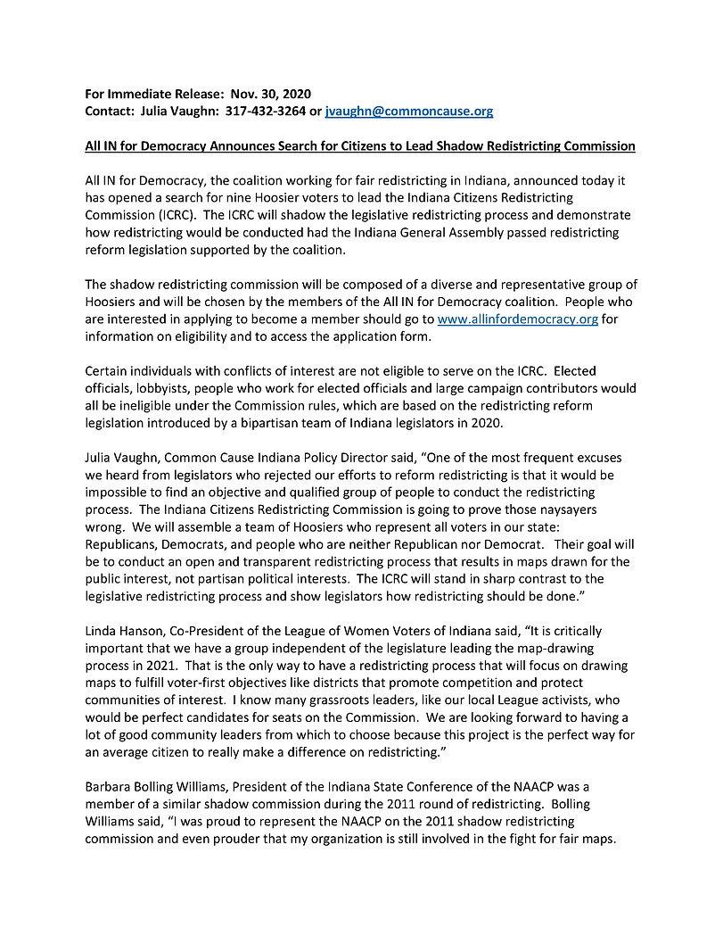 ICRC announcement release Press Release