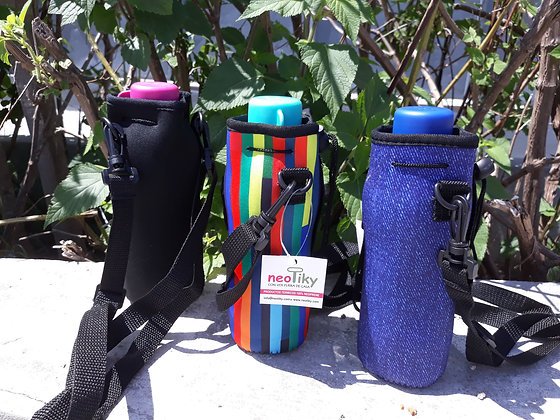 Porta Botellita Neoprene (con Botella Original Tupperware)
