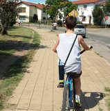 En bicicleta con mi botellita