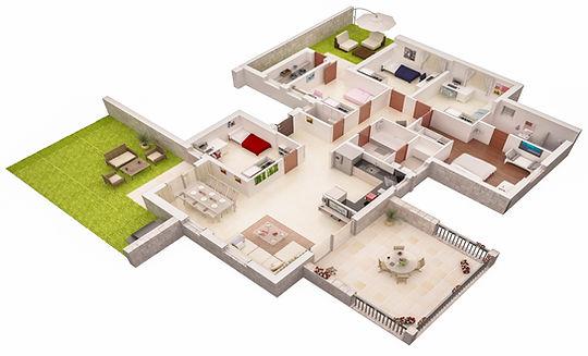 תוכניות מכר דירות גן צבעוניות