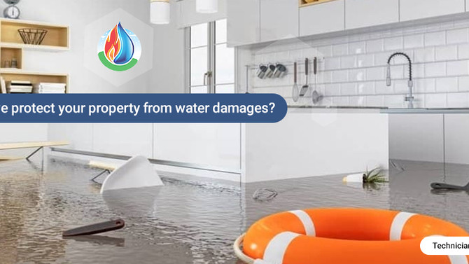 How to prevent water damages on your property?
