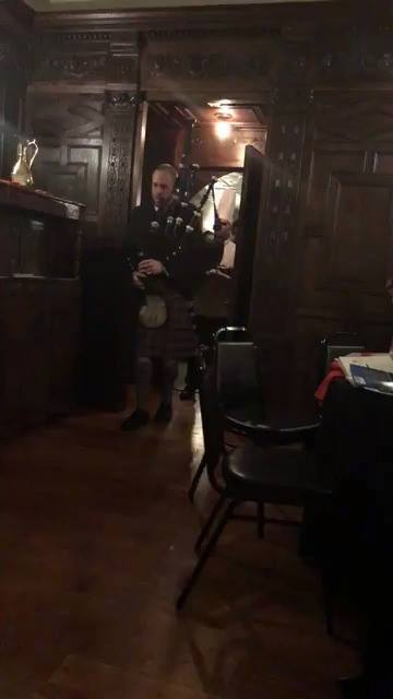 Piping in the Haggis Robbie Burns Dinner