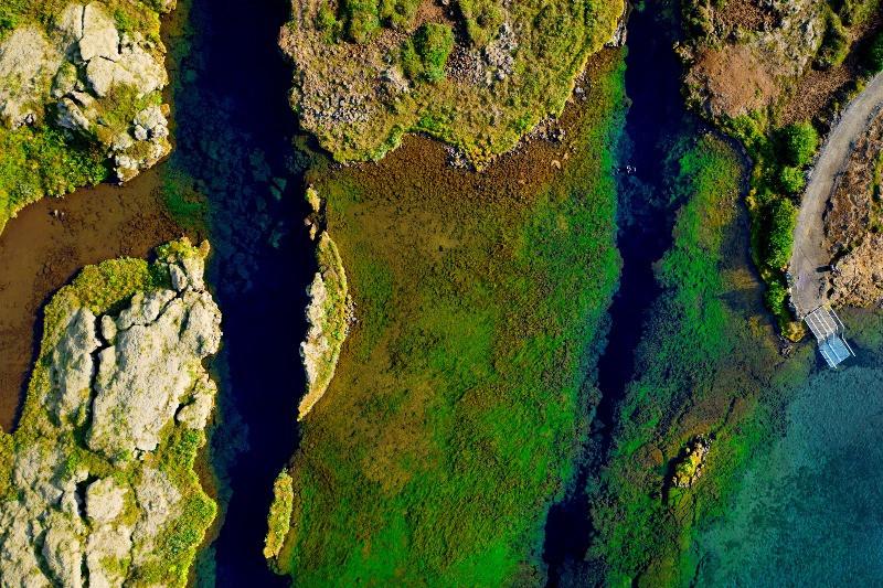 Vista panorámica de la Fisura de Silfra - Snorkel en Islandia: Buceando en la Fisura de Silfra