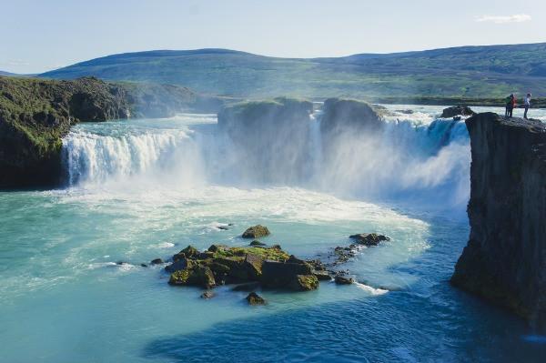 Impresionante cascada cerca de la zona del lago myvatn