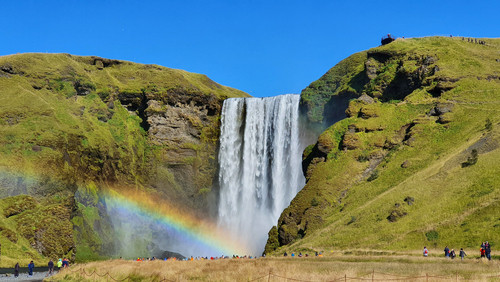 Cascada Skógafoss - Itinerario de 7 días por el sur de Islandia | Día 1: Seljalandsfoss, Skógafoss y Sólheimasandur