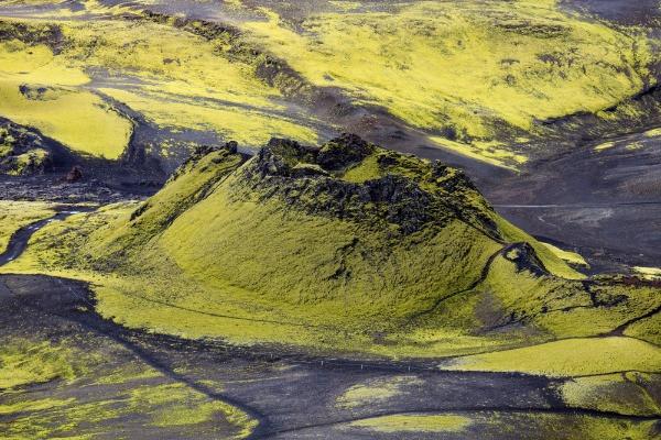 Imagen de Laki, uno de los volcanes en Islandia más destructivos