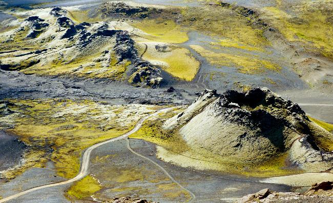 Restos del volcán Laki - Eldhraun - Campo de lava y musgo al sur de Islandia