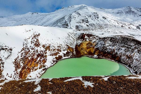 Vista panorámica de Askja - Myvatn en el norte de Islandia: Los mejores planes para hacer
