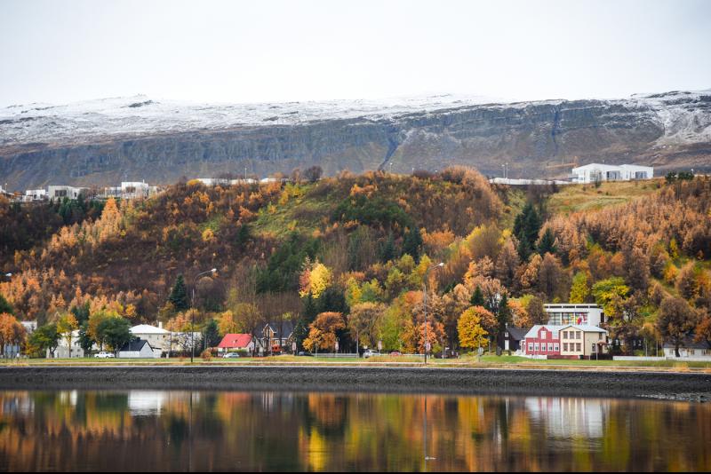 Vista panorámica de Akureyri en otoño - Guía Completa de Akureyri - la Capital del Norte de Islandia