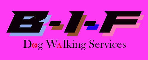 BIF -Dog Wlking Services (pink)