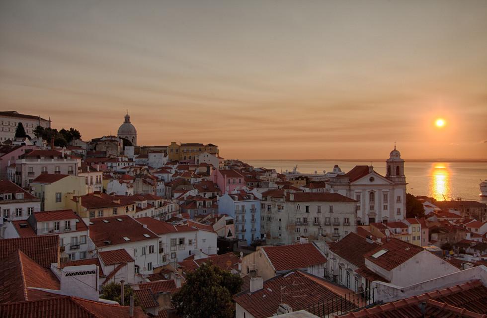 Sunrise over Lisbon
