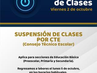 Suspensión de Clases por CTE