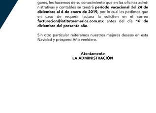 Aviso Administración (Facturación)