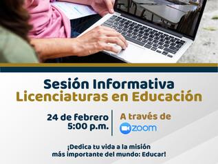 Sesión Informativa Licenciaturas