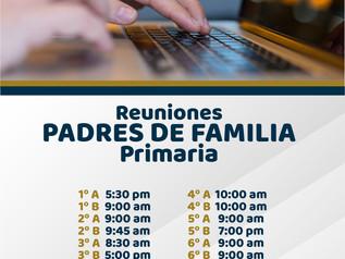 Reuniones Padres de Familia Primaria