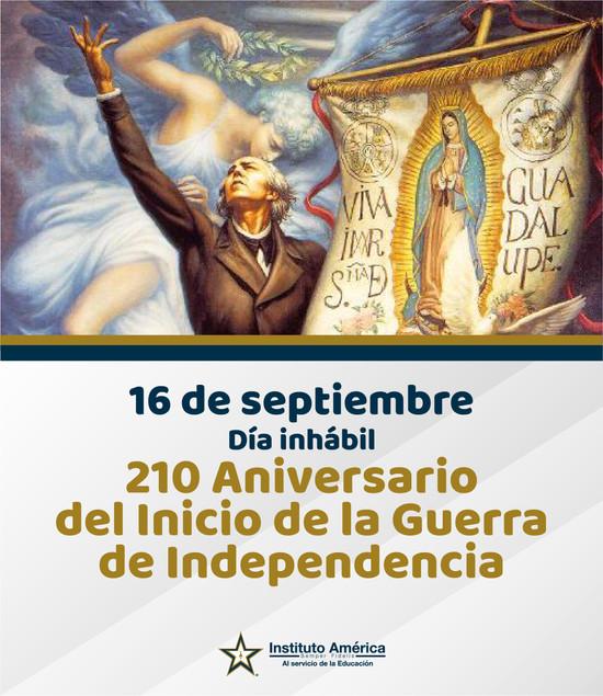 Suspensión de actividades 16 de septiembre