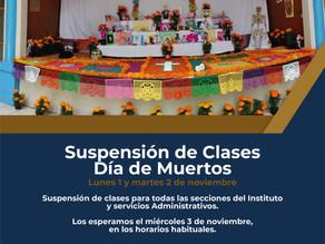 Suspensión de Clases Día de Muertos