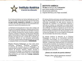 Instituto América: 75 años al servicio de la educación.
