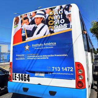 #Admisiones2020 #InstitutoAmérica #bus #