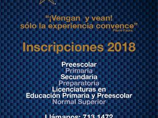 Inscripciones 2018