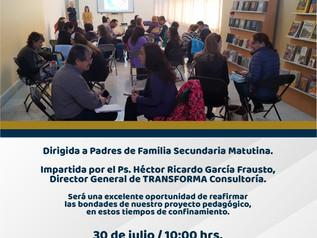 """Conferencia """"Nuestro Proyecto: Certeza ante las circunstancias""""."""