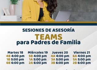 Sesiones de Asesoría en Teams para Padres de Familia (Primaria)