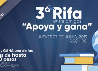 "3er Rifa ""Apoya y gana""...cambio de fecha."