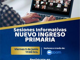 Sesión Informativa NUEVO INGRESO Primaria