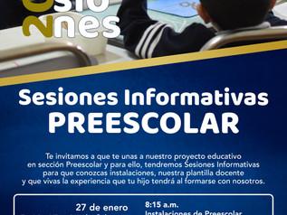 Sesiones Informativas Preescolar